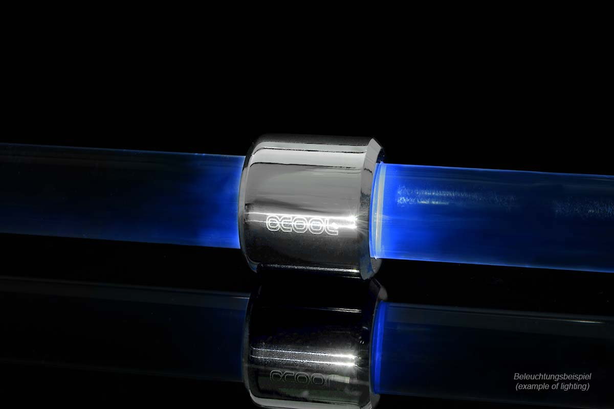 Alphacool Aurora HardTube LED gyűrű 16 mm-es króm - UV -/15334/