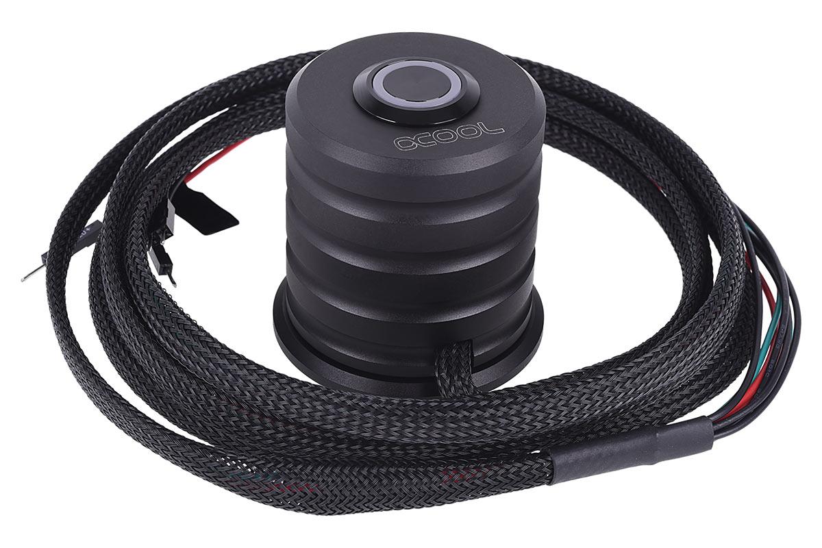 Alphacool Powerbutton 1bekapcsológomb 19mm-es piros színnel világító gombbal - Deep Black