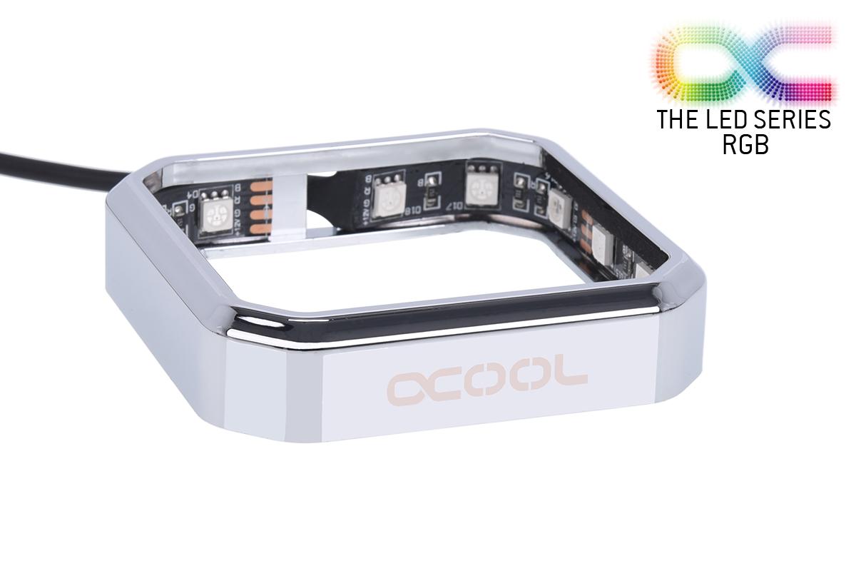 Alphacool Aurora XPX RGB CPU blokk keret - Chrome /12893/