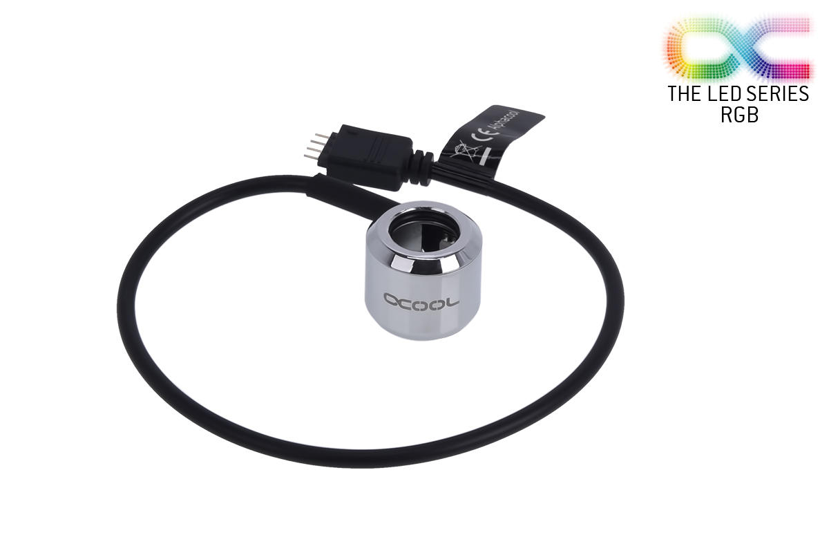 Alphacool Aurora HardTube LED Ring 13mm Chrome - RGB /15353/