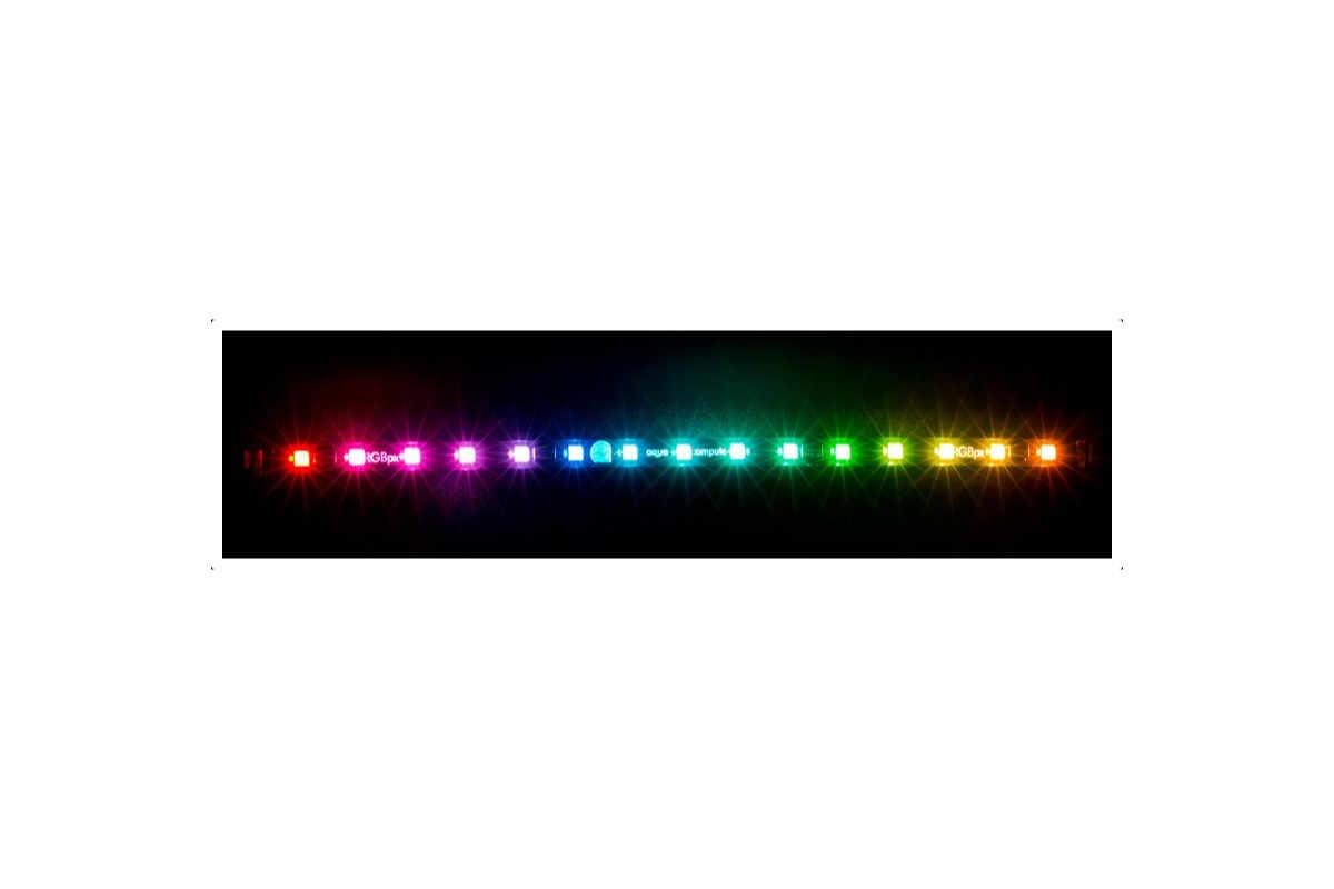 Aquacomputer RGBpx LED szalag 27,3 cm, szélessége 5 mm, 15 LED /53269/