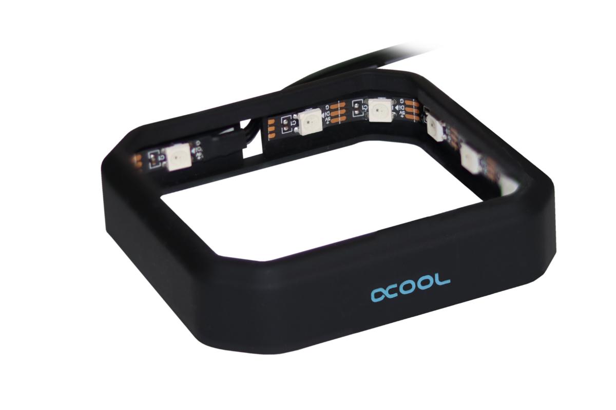 Alphacool Aurora XPX Digital RGB keret - fekete 12942