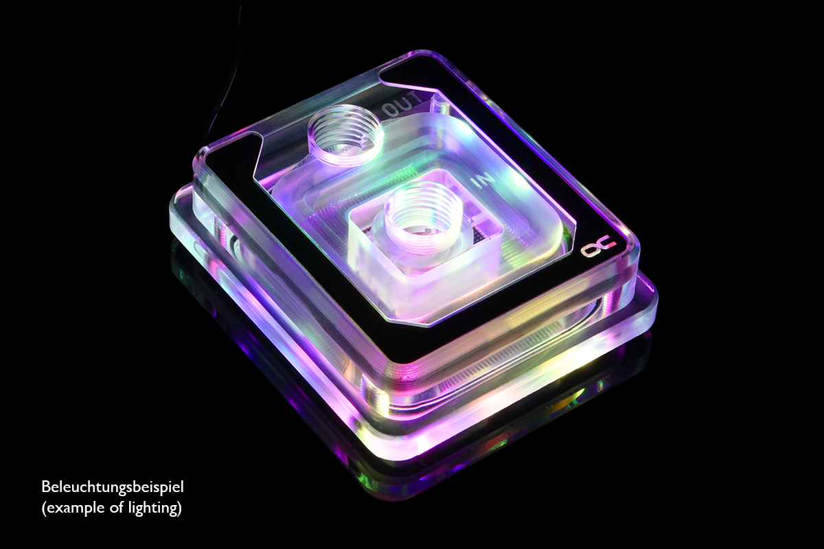 Alphacool Eisblock Aurora XP³ Light - Plexi DRGB /12955/