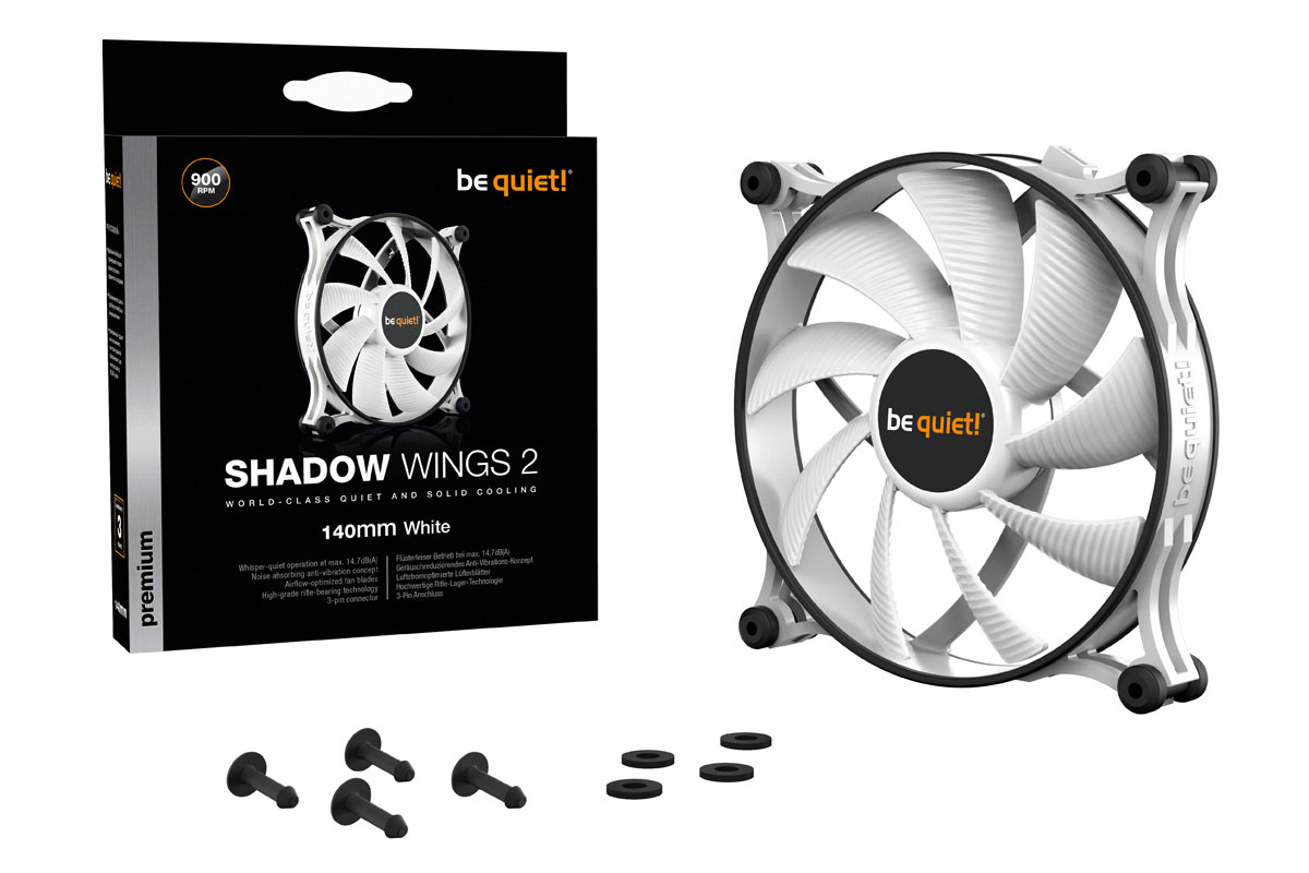 be quiet! Shadow Wings 2 white 140mm (140x140x25mm) /BL090/