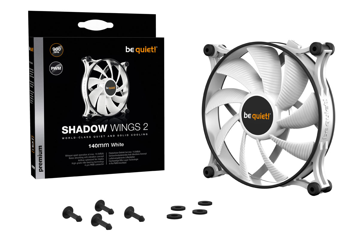 be quiet! Shadow Wings 2 white 140mm PWM (140x140x25mm) /BL091/
