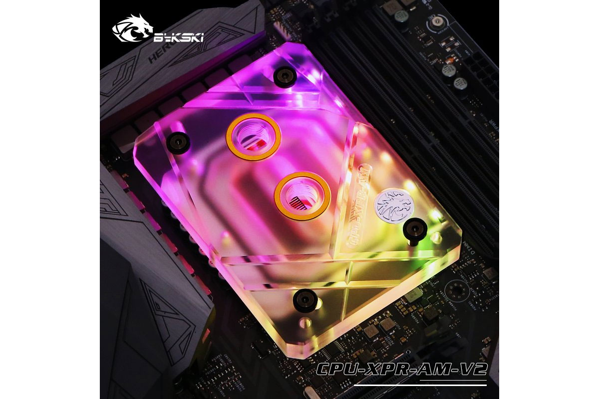 Bykski AMD AM4 CPU-XPR-AM-V2 CPU blokk - Plexi /CPU-XPR-AM-V2/