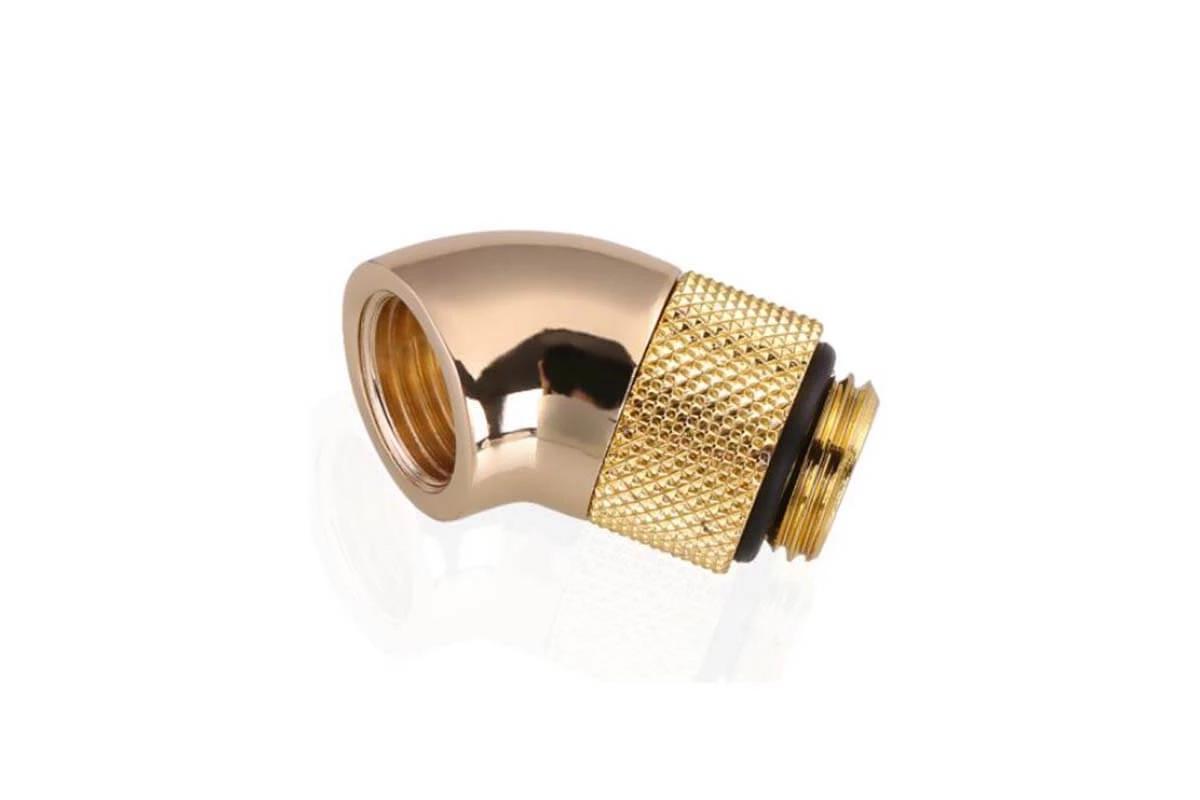 Bykski B-RD45-X 45° G1/4 forgatható adapter - Gold /B-RD45-X-GD/