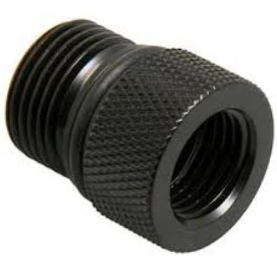 Bitspower Aljzat adapter G1/4, Eheim 1046/48/1250 - matt fekete