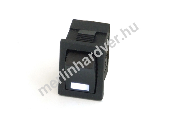 Phobya négyszögletes kapcsoló - fehér LED - unipoláris ON/OFF (3-Pin)