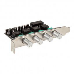 Lamptron CP436 4-csatornás ventilátor vezérlő PCI - ezüst /LAMP-CP436S/