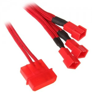 BitFenix Molex - 3x 3-Pin 5V adapter 20cm - piros / piros (BFA-MSC-M33F5VRR-RP)