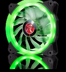 Raijintek IRIS 12 LED-es ventilátor, zöld - 120mm (0R400042)
