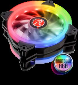 Raijintek IRIS 12 Rainbow RGB LED ventilátor duál pakk + vezérlés (0R400044)