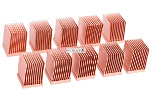 Alphacool GPU RAM Copper Heatsinks 10x10mm - 10 db. /17426/