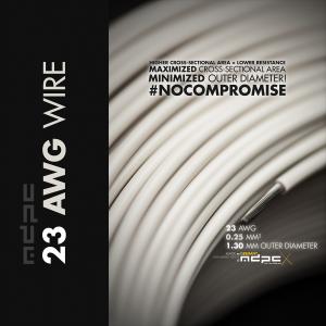 MDPC-X Schaltlitze 23-AWG Krém-Fehér, 1m(WI-23AWG-CW)