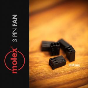 MDPC-X 3-Pin Molex ventilátor csatlakozó - Fekete (CO-FAN-3)
