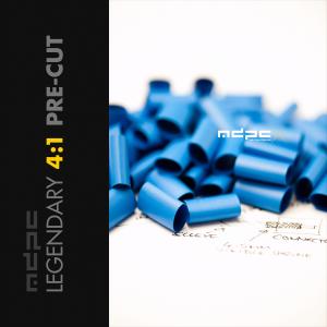 MDPC-X Előrevágott Zsugorcső 4:1 Kicsi - Kék, 50 db (HS-PC-BL)