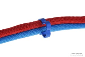 Alphacool Eiskamm Alu X4 kábelrendező - 4mm kék - 4 db