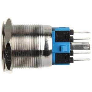 DimasTech nyomógomb 22mm - Silverline - Kék (PD091)