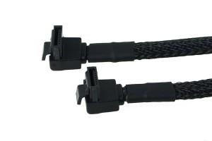 Phobya SATA 3.0 csatlakozókábel 45 cm-es biztonsági retesszel - fekete