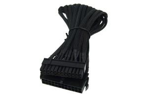 Phobya 24Pin tápegység bővítő egycsatornás 30cm - fekete