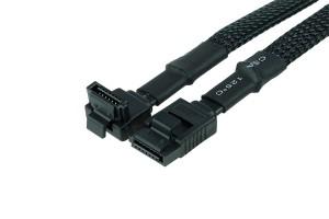 Phobya SATA 3.0 csatlakozókábel 15cm biztonsági hevederrel - fekete