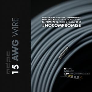 MDPC-X kábelköteg 15-AWG szürke, 1m (WI-15AWG-GY)