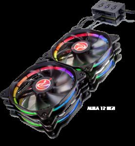 Raijintek Auras 14 RGB LED ventilátor set 2 db - 140mm (0R400051)