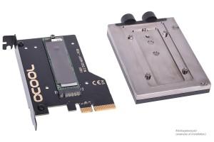 Alphacool Eisblock HDX-3, SSD vízhűtés + pcie kártya (11435)