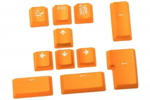 Ducky 11 keys pack-PBT Double-shot - orange (DKSA11-USPDYNWO1)