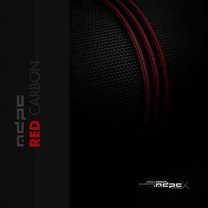 MDPC-X Sleeve XTC - Red Carbon, 1m - Piros (SL-XTC-IRB)