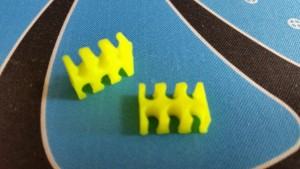 MerlinMOD Classic műanyag kábelfésű 3mm - 6 slot sárga 1db