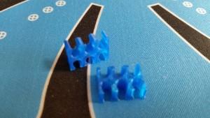 MerlinMOD Classic műanyag kábelfésű 3mm - 6 slot kék 1db