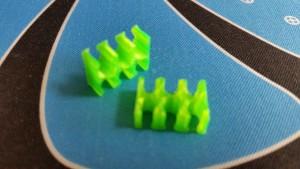 MerlinMOD Classic műanyag kábelfésű 3mm - 6 slot méregzöld 1db