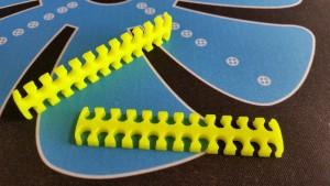MerlinMOD Wide műanyag kábelfésű 3mm - 24 slot sárga 1db