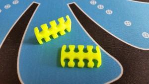 MerlinMOD Wide műanyag kábelfésű 3mm - 8 slot sárga 1db