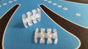 MerlinMOD Wide műanyag kábelfésű 3mm - 6 slot átlátszó 1db