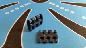 MerlinMOD Wide műanyag kábelfésű 3mm - 6 slot fekete 1db