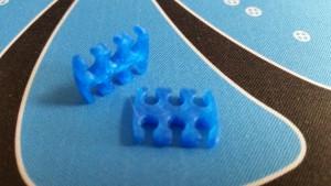 MerlinMOD Wide műanyag kábelfésű 3mm - 6 slot kék 1db