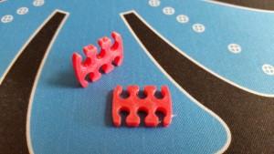 MerlinMOD Wide műanyag kábelfésű 3mm - 6 slot piros 1db