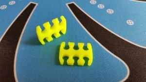 MerlinMOD Wide műanyag kábelfésű 3mm - 6 slot sárga 1db