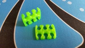 MerlinMOD Wide műanyag kábelfésű 3mm - 6 slot méregzöld 1db
