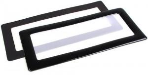 DEMCiflex porszűrő 2x40mm, négyzet - fekete / fehér (DF0526)