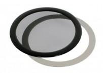 DEMCiflex porszűrő 120mm, kerek - fekete / fekete (DF0016)