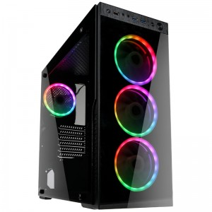 Kolink Horizon RGB Midi-Tower, Tempered Glass - fekete (HORIZON)