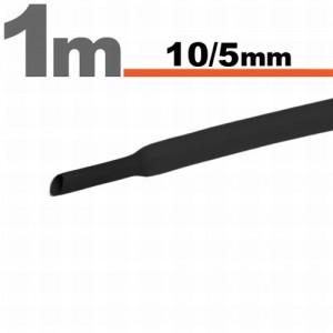Zsugorcsõ 10mm / 5mm fekete 1 méter /11023F/