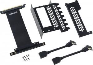 CableMod függőleges grafikus kártya tartó PCIe x16 riser kábellel, 2x DisplayPort - fekete (CM-VPB-2DK-R)