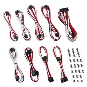 CableMod Classic ModMesh C-Series Cable Kit Corsair RMi & RMx - piros/fehér (CM-CSR-CKIT-NKWR-R)