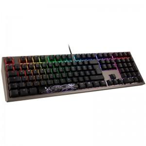 Ducky Shine 7 PBT Gaming billentyűzet , MX-Speed-Silver, RGB LED - gunmetal - német (DKSH1808ST-PDEPDAHT1)