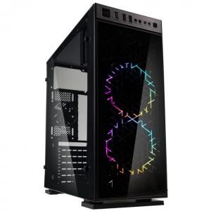 Kolink Inspire K1 RGB Midi-Tower, Tempered Glass - fekete (INSPIRE K1)